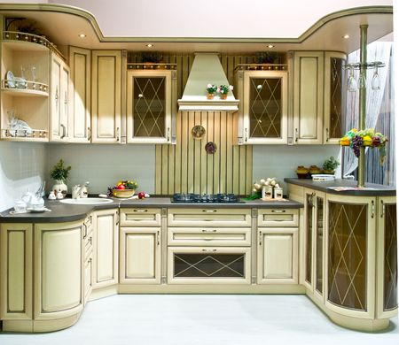 Design of classical modern kitchen Stock Photo