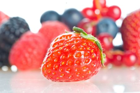 Fresh berries and fruit in assortment Stock Photo - 5004015
