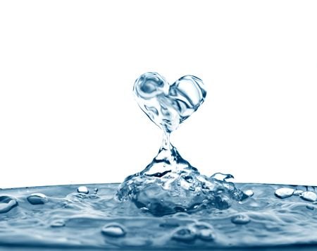 water drip: Beautiful splashes a clean water