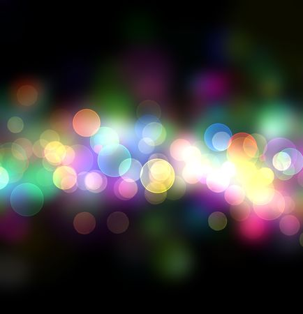 Beautiful abstract background of holiday lights photo