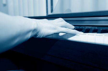 hands of a piano player Stock Photo - 5196286