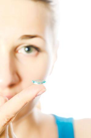 contact lenses: Lentes de contacto para los ojos