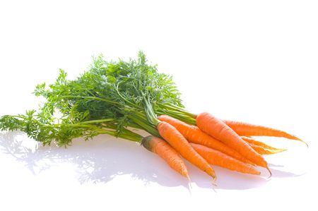 fresh carrot on white isolated photo