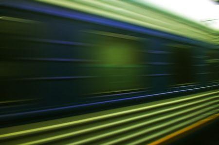 train moves on a rail way. Stock Photo - 5351853