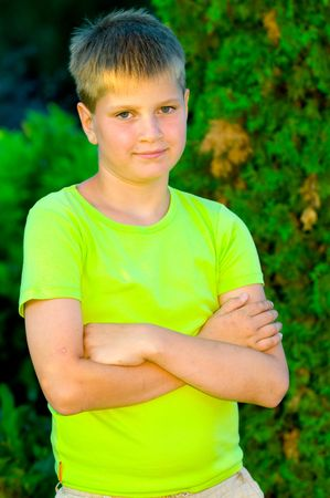 Portrait of a smiling young guy Stock Photo - 5334595