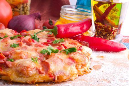 Supreme Pizza and red  tomato Stock Photo - 5375052