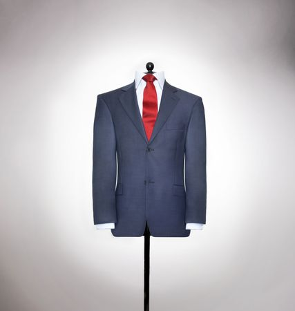 shirts on hangers: mans elegants  suits  Stock Photo