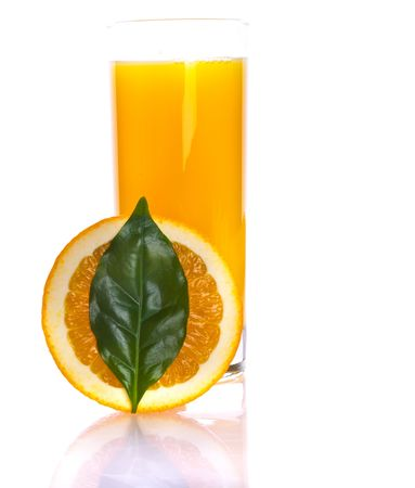 fresh slice orange and juise Stock Photo - 5467533