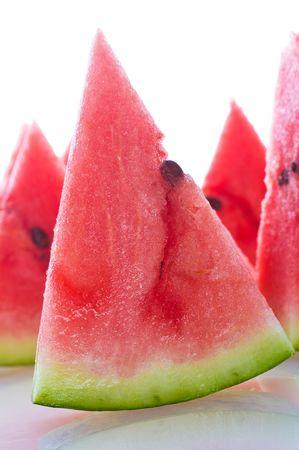 fresh ripe watermelon slice cuted   photo