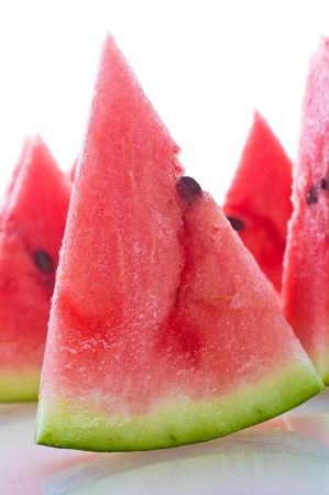 fresh ripe watermelon slice cuted   Stock Photo
