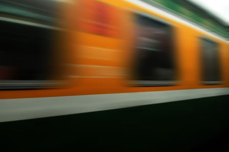 miles: train passing by. Motion blur