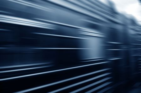 train passing by. Motion blur Stock Photo - 5559299