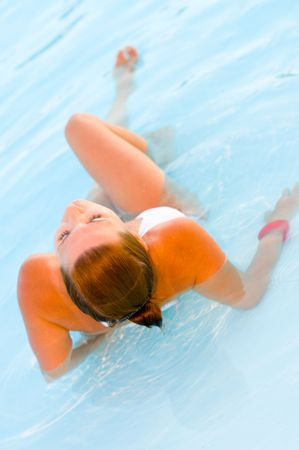 Woman of a Swimming   photo