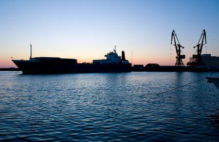 oil tanker at the ocean   photo