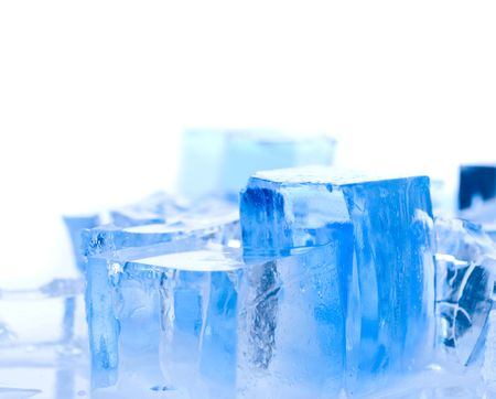 blocks of ice. on isolated photo