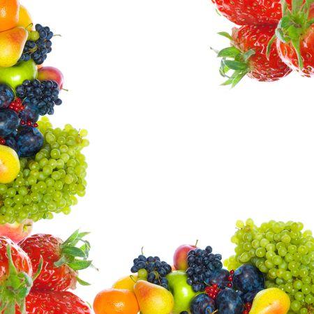 fresh fruits. isolated on white background  photo
