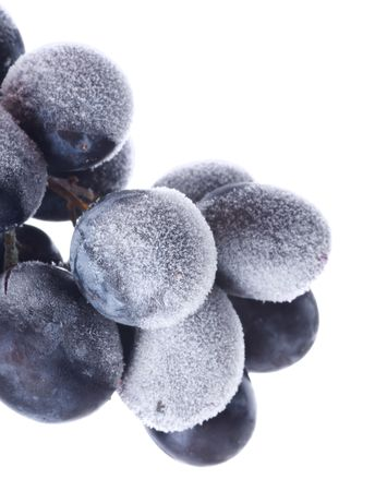 frozen fruit: Grapes ace. Isolation on white  Stock Photo