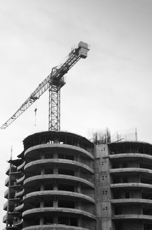 Building with cranes on sky background   Stock Photo - 5634179