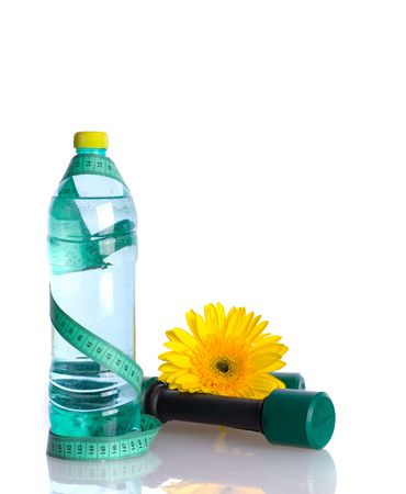 diet concept: Water Bottle Diet Concept isolated