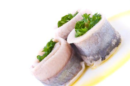 Marinaded herring  photo