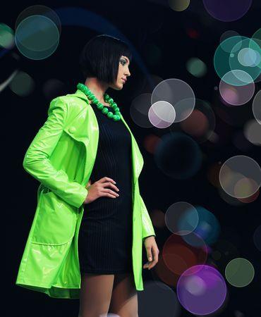 modelo en pasarela: Desfile de modas de modelo