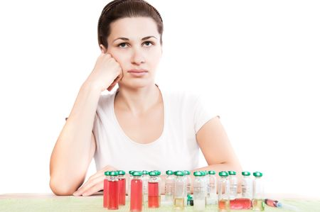 woman and pill close up Stock Photo - 6222851