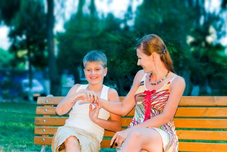 happy mother with young son Stock Photo - 6265010