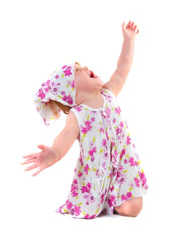baby girl portrait on isolated photo