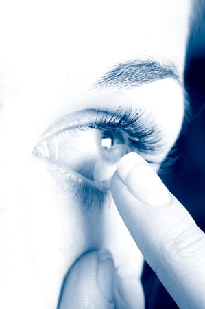 dilated pupils: Contact lenses for eyes