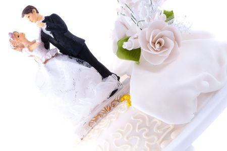 Detail of traditional wedding cake photo