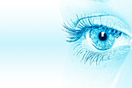 macro beautiful female eye Stock Photo