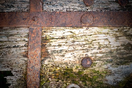 rusty metal and wood  background Stock Photo - 6989380