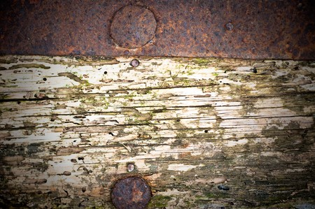 rusty metal and wood  background Stock Photo - 6989386