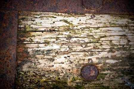 rusty metal and wood  background Stock Photo - 6989378