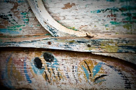 rusty metal and wood  background Stock Photo - 6989377