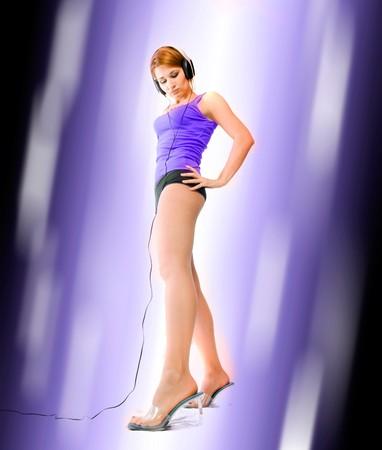 beautiful sexual woman. dance style photo