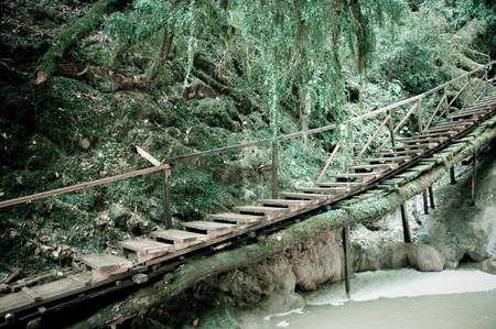 ropeway: Old rope-way Stock Photo