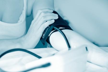 tonometer. Measurement of arterial pressure. photo