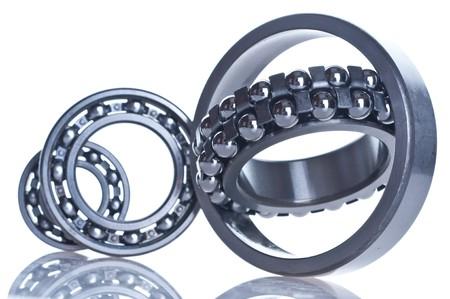 bearing  tool. isolated on white photo