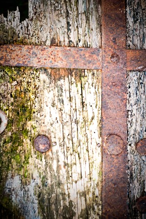 rusty metal and wood  background photo