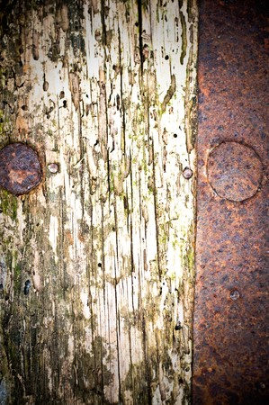 rusty metal and wood  background Stock Photo - 7581113