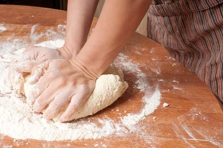 Freshly prepared bread dough photo