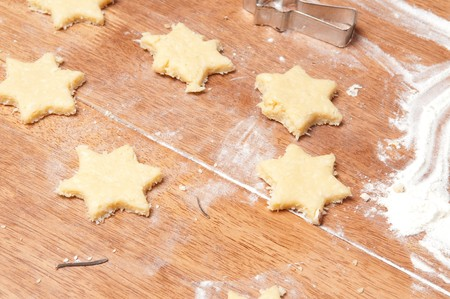 Baking cookies and biscuits. Preparing for Christmas Stock Photo - 8130260