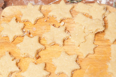 Baking cookies and biscuits. Preparing for Christmas photo