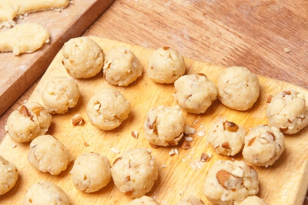 Baking cookies and biscuits. Preparing for Christmas Stock Photo - 8397979