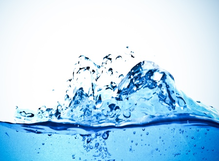 Beautiful splashes a  clean water Stock Photo