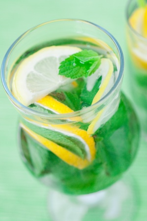 Fresh mojito  cocktail on glass Stock Photo - 8550713
