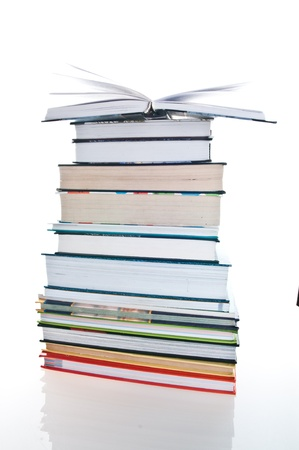 Pile of books. Isolation on the white Stock Photo - 8550700