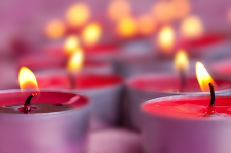 candles on a blurred background Stock Photo - 8598506