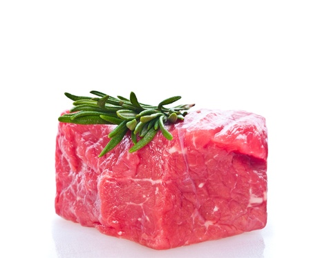 fresh meat on slice photo